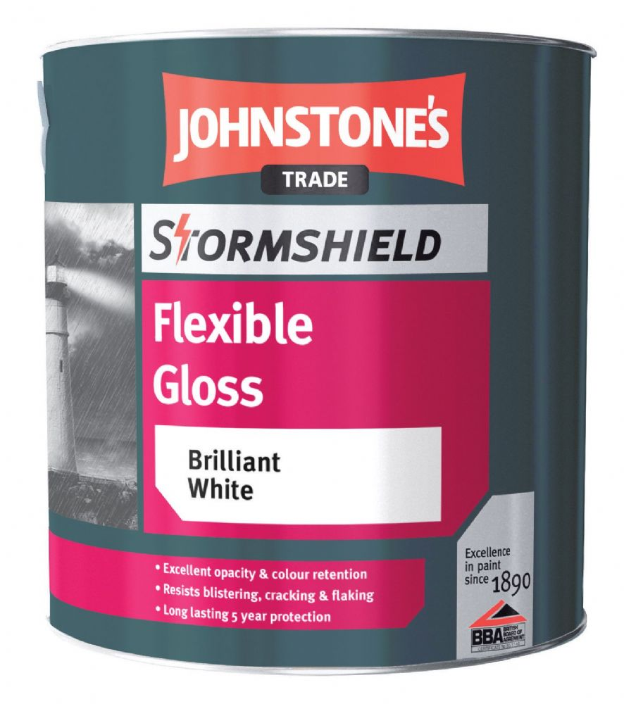 Johnstone's Stormshield Flexible Gloss Brilliant White 2.5L